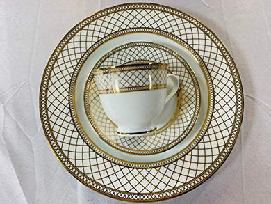 Azure Premium Porcelain Dinner Set, 21 pcs, Golden