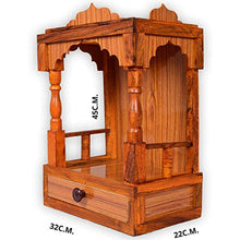 Load image into Gallery viewer, VFH Engineered Wooden Handcraft Pooja Room Home Temple | Mandir (Brown)