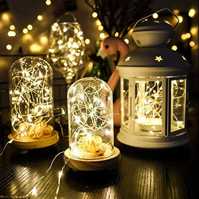 Glimmer Lightings Fairy Thin String Light 5 Meters Battery Powered for Home Decoration Diwali - Warm White,