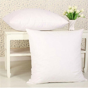 JDX Hotel Microfiber Cushion (16X16 Inches Set of 5, White)
