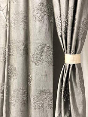 Reyansh Decor Set of 2 Heavy Designer Plain Polyester Eyelet Curtains (Door 4 X 7 Feet, 3_Grey_2PC)