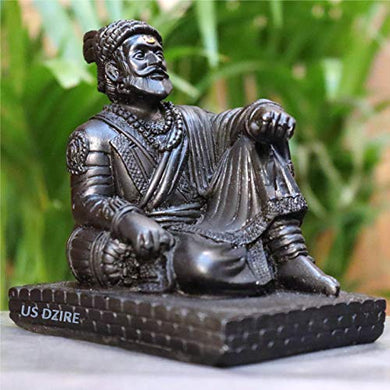 US DZIRE™ 901Chatrapati Shivaji Maharaj Idols Handcraft Statue for Car Dashboard, Table,Puja ghar,mandir murti & Office Figurines Decorative Showpiece - Home Decor Lo