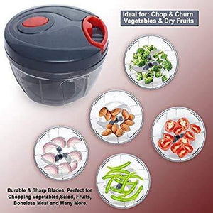 A2SK Mini Handy Vegetable & Fruit Chopper Vegetable Chopper(Multicolor, 450ML)
