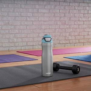 Contigo Autoseal Chill Stainless Steel Water Bottle 24 oz (Stainless Steel/ Scuba Lid)