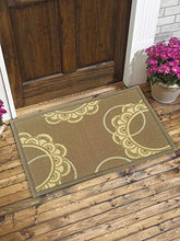 Load image into Gallery viewer, BIANCA Tough-Thin Printed Door Mat with Non-Slip Rubber Backing -2pc Set- (splender) sea/circuler-Multi