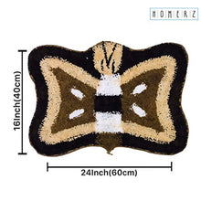 Load image into Gallery viewer, Homerz Premium Set of 5 Super Soft Microfiber Butterfly Mat | Bath Mat | Door Mat | 16 x 24 Inch Guaranteed Exact Size (Multicolor, 5)