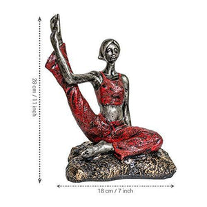 TIED RIBBONS Garden Decoration Items for Outdoor Balcony Lounge - Yoga Lady Statue Showpiece(18 X 28 cm, L X H) - Home Decor Lo