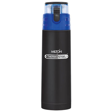 Milton Atlantis-600 Thermosteel Water  Bottle,500 ml,Black