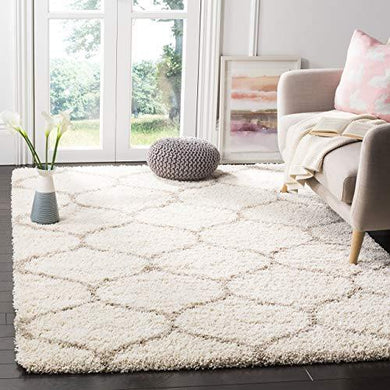 SWEET HOMES Carpet.Ultra Soft Shag hanwoven Anti-Skid, 2 inch Pile Height, Size 3x5, Color, Ivory/Beige - Home Decor Lo