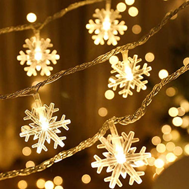 PESCA Snowflakes Light 40 LED with 6 m Length (Warm White)