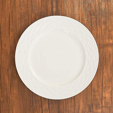 Home Centre Brook Dinner Plate - White