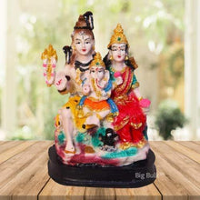 Load image into Gallery viewer, Big Bulk Lord Shiv Parivar Idol Shiv Parwati God Shiva Family Handicraft Decorative Statue Spiritual Puja Vastu Showpiece Figurine Religious Murti