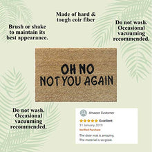 Load image into Gallery viewer, Atmah Oh No Not You Again Coir Door Mat- Size 40 X 60 Cm