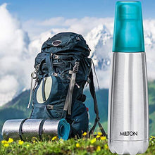 Load image into Gallery viewer, Milton Vertex -500 Thermosteel Water Bottle with Unbreakable Blue Tumbler, 500 ml, Blue