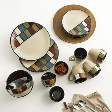 Home Centre Maris-Adonia Stoneware Crockery Set - Brown