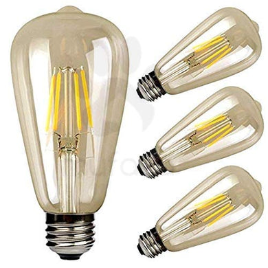 Mufasa 4-Watts e27 LED Yellow;Amber Bulb, Pack of 4