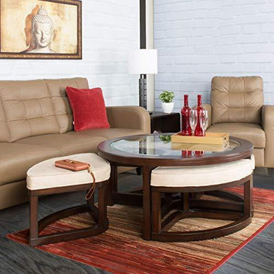 Home Centre Malmo Coffee Table with Stools- 1+4 Pcs - Home Decor Lo