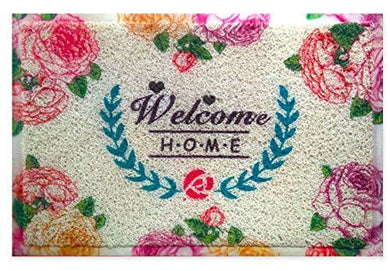 MATS AVENUE All Purpose Soft Cushion Door Mat Washable Light Weight 40X60 cm with Beautiful Welcome Home Theme for All Entrances.