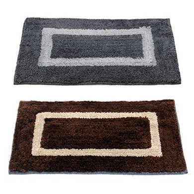 Story@Home Handicraft Style Eco Series 2 Piece Cotton Blend Door Mat Set - 40 x 60 cm or 16