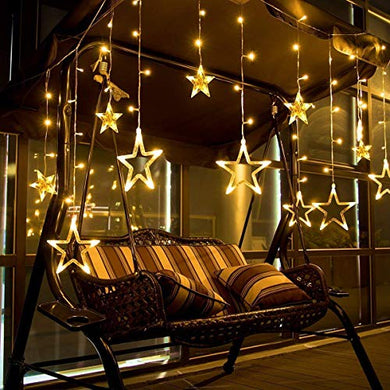Vaku® Star String Lights for Bedroom with 8 Lighting Modes, Waterproof Fairy Lights for Bedroom, Wedding, Party, Christmas Decorations Lights