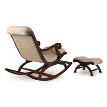 Load image into Gallery viewer, Shilpi Teak Wood Rocking Chair With Foot Rest - Home Decor Lo