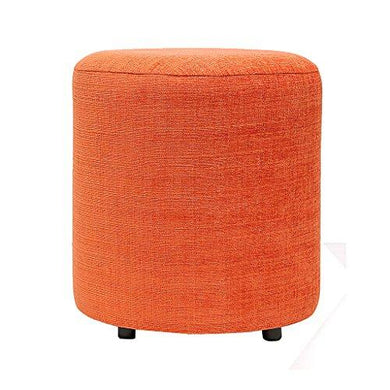 Barrel Round Pouffe: Orange - Home Decor Lo
