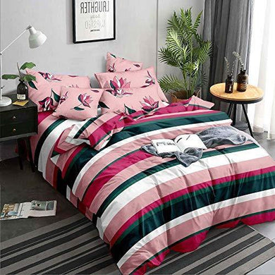 Fresh From Loom Comforter Collection Double Bed Glace Cotton Blankets for Ac/Winter-Multicolour