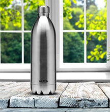 Load image into Gallery viewer, Milton Thermosteel Duo DLX 1800 Stainless Steel Water Bottle, 1.8 Liters, Silver