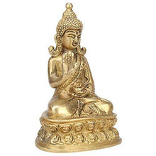 Load image into Gallery viewer, Kartique Brass Gautam Buddha Idol Handmade Statue Blessing Murti for Home Office Table Living Room Décor Religious Gift Feng Shui Good Luck Showpiece - Home Decor Lo