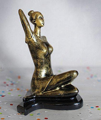 Yoga Lady Decorative Sculptures for Yoga Day Gifting & Decor - Home Decor Lo