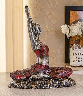 TIED RIBBONS Yoga Lady Statue Figurine for Home Living Room Table Top Hall Bedroom Shelf Decoration - Yoga Statue in Decor (25 X 31.5 cm, L X H) - Home Decor Lo