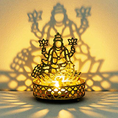 Home Centre Divine Lakshmi Stencil T-Light Holder
