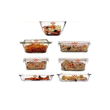 Load image into Gallery viewer, Femora Microwave Borosilicate Glass Kitchen Set (White) - Home Decor Lo