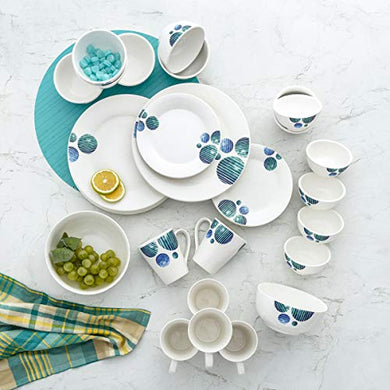 Home Centre Pristine Volga Printed 32-Pc. Dinner Set