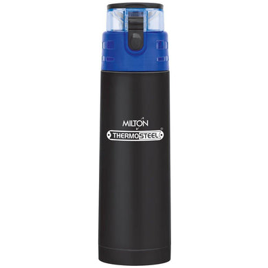 Milton Atlantis-900 Thermosteel Water  Bottle,900 ml,Black
