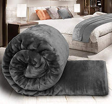 Load image into Gallery viewer, Craftscity Floral Embossed Mink Blanket Double Bed (Grey)