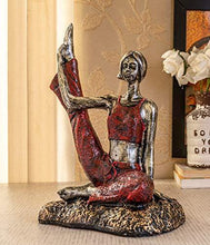 Load image into Gallery viewer, TIED RIBBONS Garden Decoration Items for Outdoor Balcony Lounge - Yoga Lady Statue Showpiece(18 X 28 cm, L X H) - Home Decor Lo