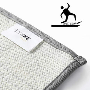 Lykke Decor Anti-Slip Bath Mat Microfiber Soft, Size 40 x 60 cm - Bathroom Rugs - Suitable for Kitchen, Bedroom and Bathroom, Dry Fast Water Absorbent & Machine-Washable - Set of 1