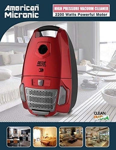American Micronic- AMI-VCC-2200WDx-2200 Watts Imported Dry Vacuum Cleaner (Red)