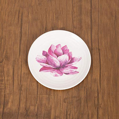 Home Centre Alora-Malia Floral Print Side Plate - Purple