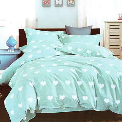 Dream Weaverz 260 Tc Cotton Flat Double Bedsheet - Light Green