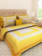 Load image into Gallery viewer, Ealth Kart 100% Cotton Rajasthani Jaipuri King Size Combo Bedsheets Set of 2 Double Bedsheets with 4 Pillow Covers - Multicolor