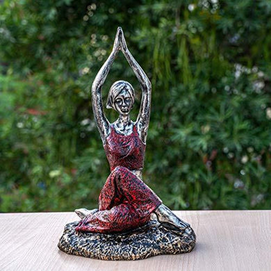 TIED RIBBONS Yoga Lady Statue Showpiece Garden Decoration Items for Outdoor Balcony Lounge(19.5 X 31.5 cm, L X H) - Home Decor Lo
