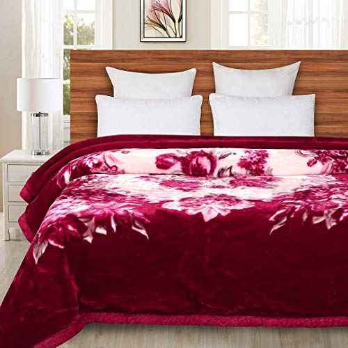 Signature Single Bed Mink Blanket - Reversible 2 Ply - Suitable for Heavy Winters and Extreme Colds, Super Soft and Extra Warm - Size:160 * 220 cms, Weight: 3.0 Kgs (8)