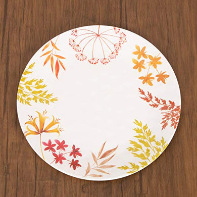 Home Centre Meadows-Malva Printed Dinner Plate - Multicolour