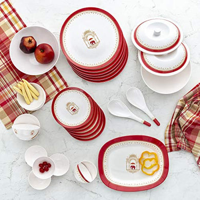 Home Centre Shalimar-Stanton Art-Deco Print 31-Piece Dinner Set