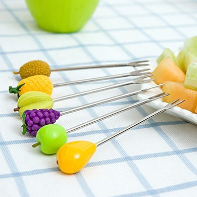 MIR Plastic Stand with 6 Fruit Shape Forks