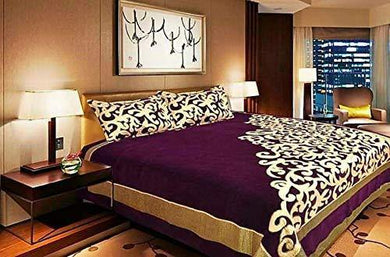F2L Chenille 500 TC Bedsheet (Purple_King)