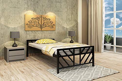Homdec Orion Space Saving Foldable Metal Single Bed
