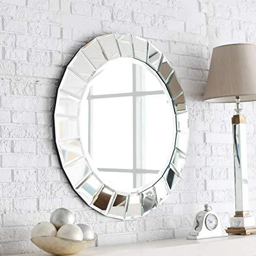 Venetian Image Elegant Modern Decorative Wall Mounted Round Mirror for Home Décor Furniture with Free Bangle Stand - ModR017 - Home Decor Lo